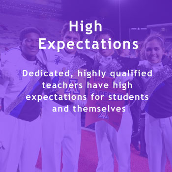 High Expectations. Dedicated, highly qualified teachers have high expectations for students and themselves.