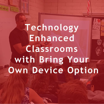 Technology Enhanced Classrooms with Bring Your Own Device Option