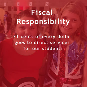 Fiscal Responsibility: 71 cents of every dollar goes to direct services for our students