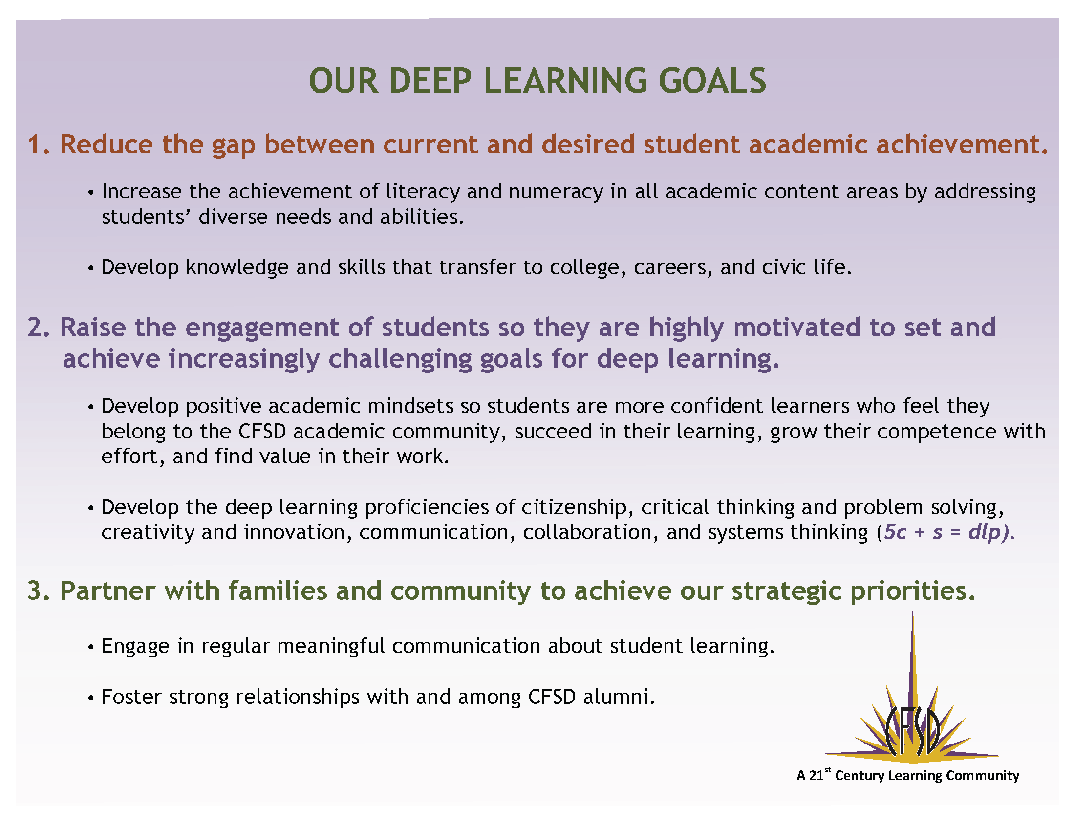 Our Deep Learning Goals