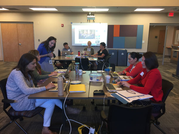 Group of teachers collaborating