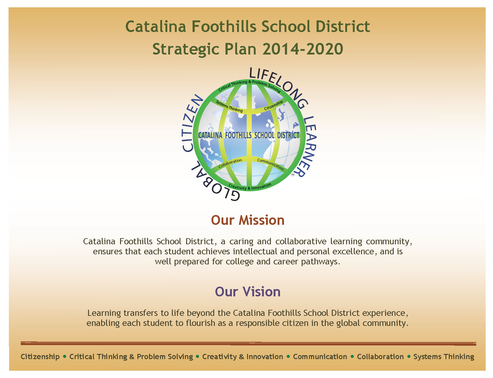 CFSD Strategic Plan 2014-2020