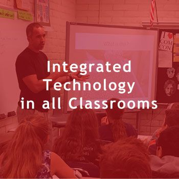Integrated technology in all classrooms.